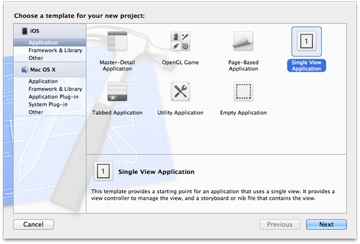 iOS 5 and The Twitter Framework: Choosing a Xcode Template - Figure 1