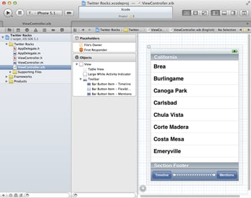 iOS 5 and The Twitter Framework: Setting Up The User Interface - Figure 3