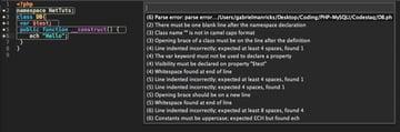 Phpcs Sublime Extension Errors