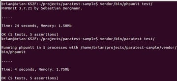 ParaTest vs Vanilla PHPUnit