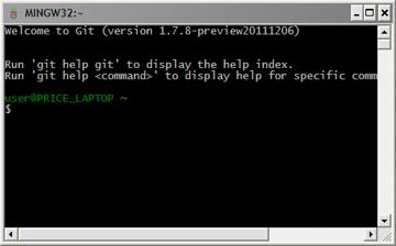 Figure 6: Screenshot of Git Bash