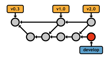 Figure 28: Using the master branch exclusively for public releases