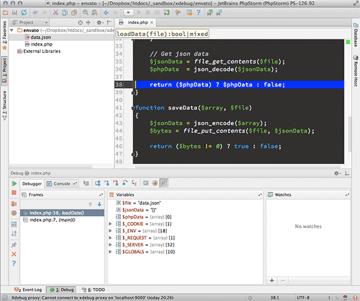 phpstorm-debugger-in-a-function