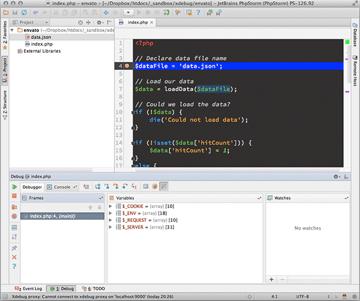 phpstorm-in-debug-mode