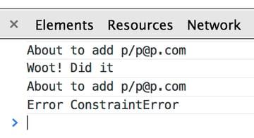 Error adding data again