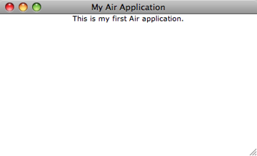 Your Air application running on MacOsx