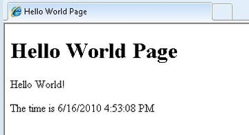 Hello world with time