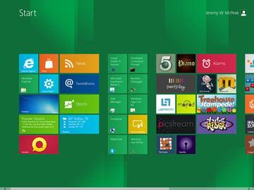 The Windows 8 Start Screen