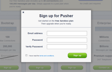 Pusher Registration
