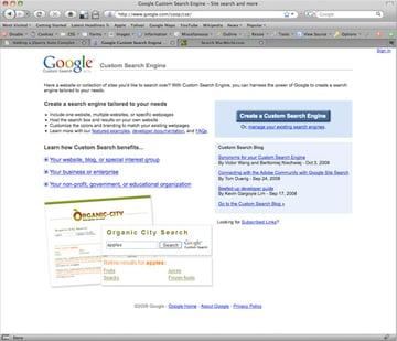 Google CSE Homepage
