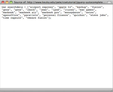 Output of searchdata.php