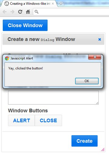 Yay, clicked the button!