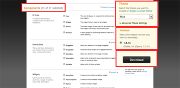 The jQuery UI Download Page
