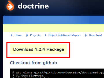 Downloading the Doctrine ORM