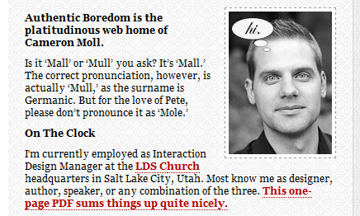 Cameron Moll's Website