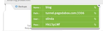 Database Credentials