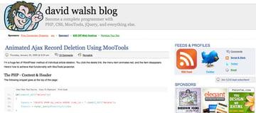 David Walsh Homepage