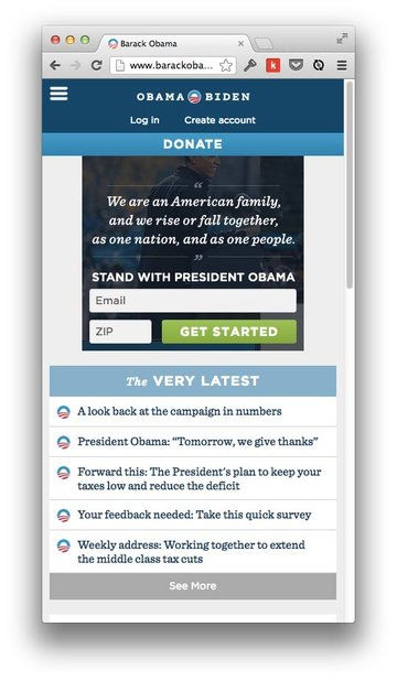 Responsive Obama Website