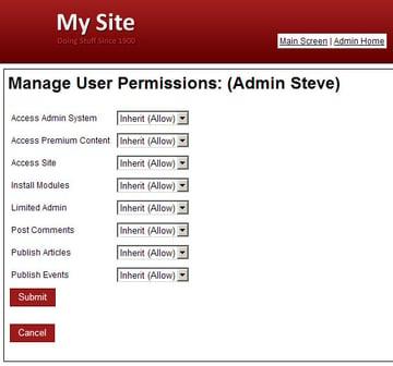User Permissions