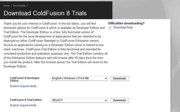Download Adobe ColdFusion 8