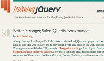 LearningjQuery Screenshot