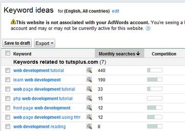 Google Search Based Keyword Tool