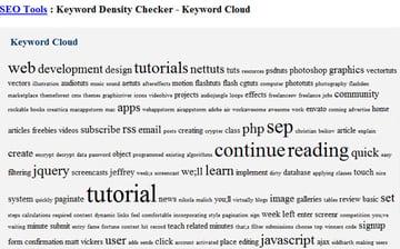 Webconfs Keyword Cloud