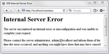 500 Internal Server Error