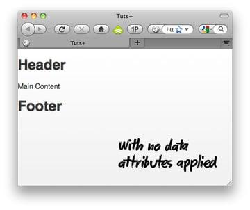 No Data Attributes Applied