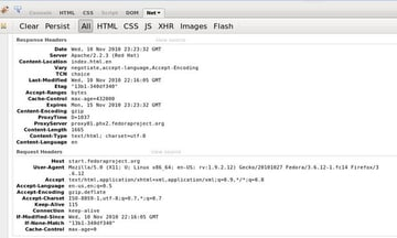 Screenshot of Firebug Net panel