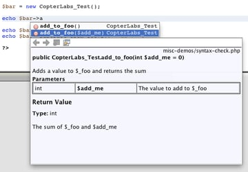 Code hinting in Netbeans