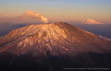 Mt. St. Helens And Mt. Rainier
