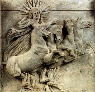 Image Credit: Helios-relief, Triglyphon with metope Found by Heinrich Schliemann