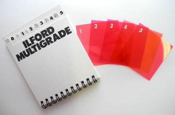 An Ilford contrast filter set.