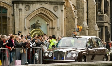 The event - arrival of Her Majesty Queen Elizabeth II.