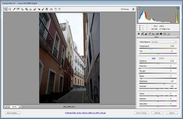 Open file in Camera Raw