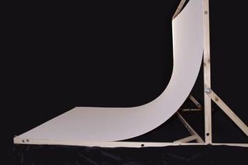 making a seamless white backdrop