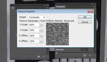 UV Properties of the Bump Texture