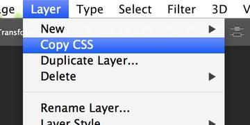 Copy CSS