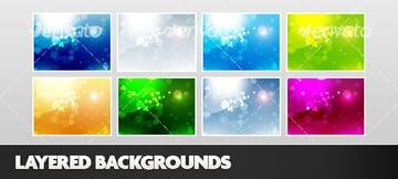 Layered Photoshop Backgrounds