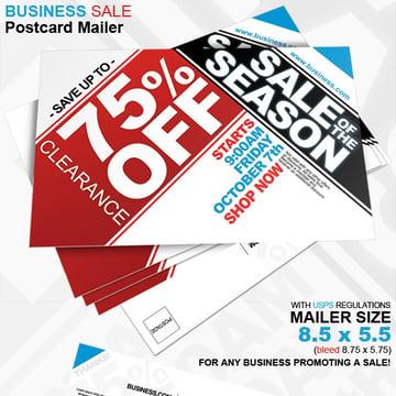 Business Sale Postcard Mailer