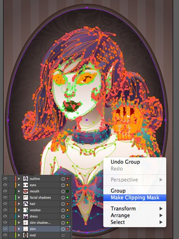 Vampiress_Making_Clipping_Mask_for_Character