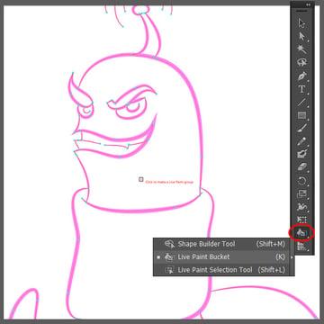 worm-live-paint-bucket-tool