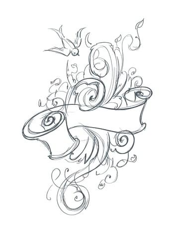Abstract tattoo tutorial