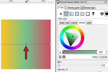 select gradient nodes