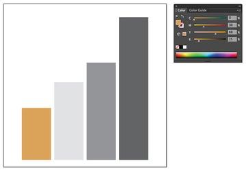 column graph dark yellow