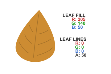 style the leaf