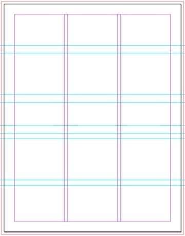indesign layout with guides