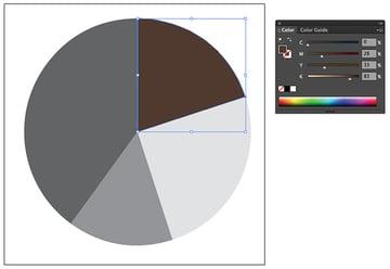 pie graph brown