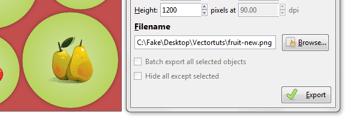 export filename